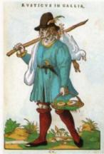 Paysanne de France, Illustration de habitus Praecipuorum Popularum (1577) Bibli. nationale de Madrid