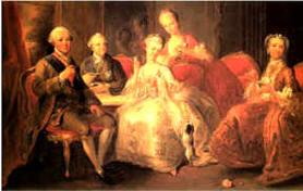 La tasse de chocolat (Louis de Bourbon, duc de Penthièvre, la princesse de Lamballe et leur famille buvant une tasse de chocolat (1767) Musée André-Jacquemard, Abbaye de Chaalis