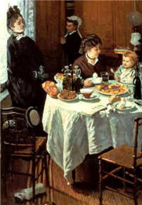 Le déjeuner (1868), Claude Monet (1840-1926) Collection Privée