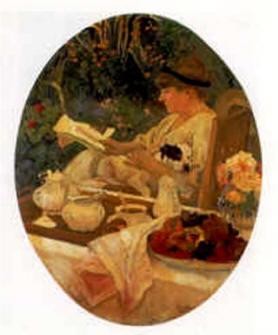 Le thé dans le jardin, Louis Carré - Musée d'Orsay - Paris