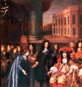 La Cour de Louis XIV - 1682-1715 - Peinture de Testelin, Musée de Versailles