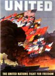 Affiche de 1943 - Les Nations unies combattent pour la liberté.