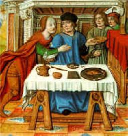 La vie des femmes célèbres : Ipsicréthéa, femme de Mithridate, à table - Antoine du Four Musée Dorée de Nantes